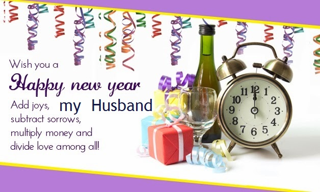 Happy New Year Wishes 2016 for Husband