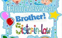 Happy New Year Wishes 2016 for brother & sister in law