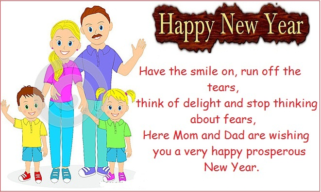 Happy new year wishes for son & daughter