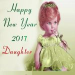 Happy new year greetings message for daughter